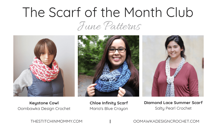 The Scarf of the Month Club June Patterns. Oombawka Design Crochet