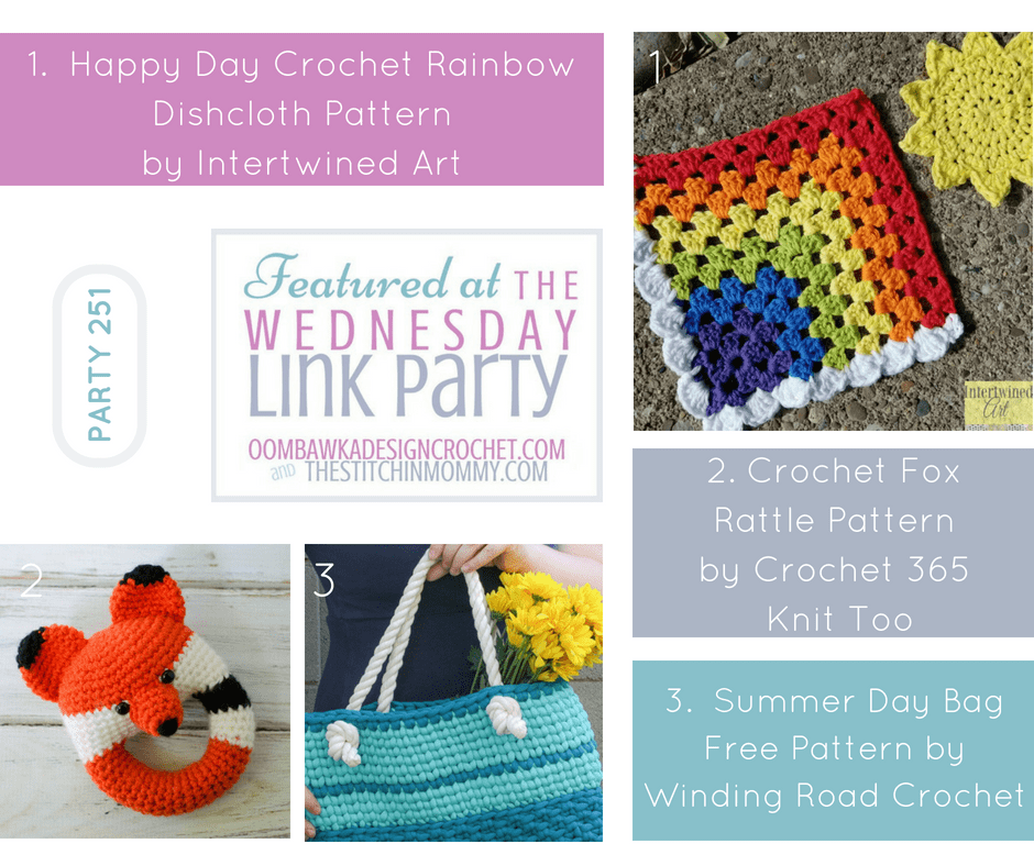 Wednesday Link Party 251 Features Oombawka Design Crochet and The Stitchin Mommy