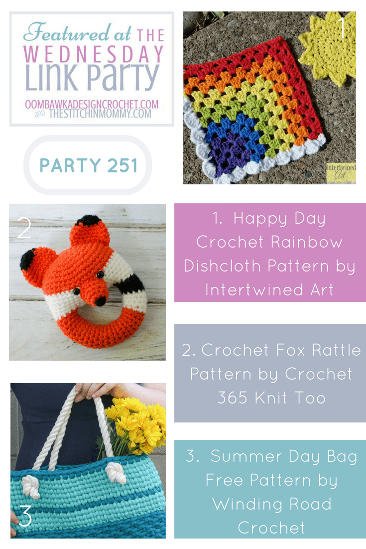 Wednesday Link Party 251 Features Oombawka Design Crochet and The Stitchin Mommy pin