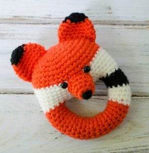 Wednesday Link Party 251 Features: Crochet Fox Rattle Pattern by Crochet 365 Knit Too