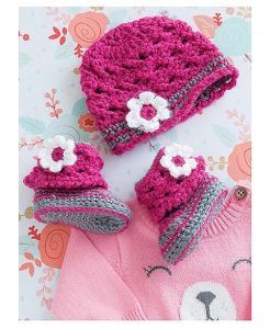 Lacy Cuff Boots and Hat. Boots and Hats. 6 Charming Sets. Leisure Arts. Book Review. Oombawka Design.