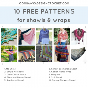 10 Free Patterns for Shawls and Wraps. Pattern Roundup. FB Oombawka Design
