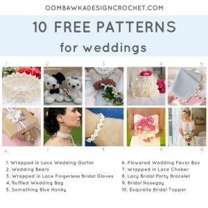 10 Free Patterns for Weddings. Pattern Roundup FB. Oombawka Design Crochet