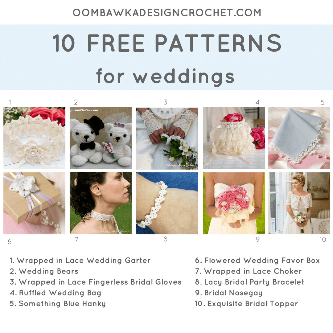 10 Free Patterns for Weddings. Pattern Roundup FB. Oombawka Design Crochet