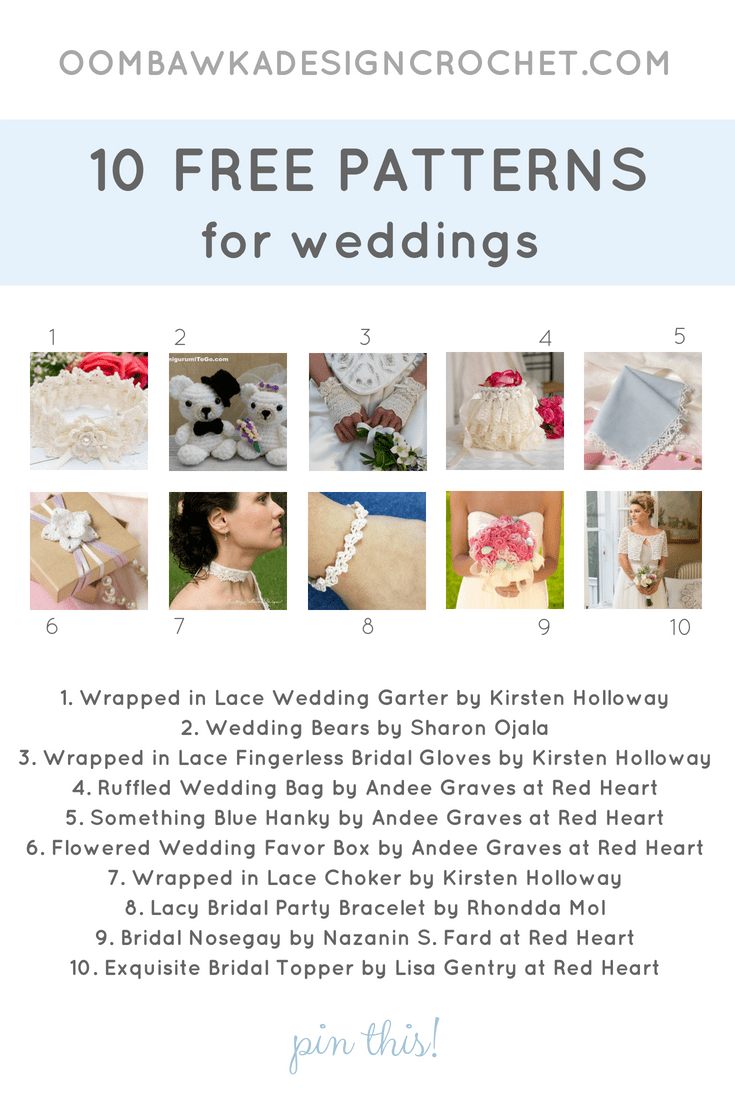 10 Free Patterns for Weddings. Pattern Roundup. Oombawka Design Crochet