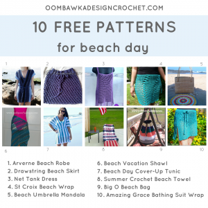 10 Patterns For Beach Day Oombawka Design Crochet