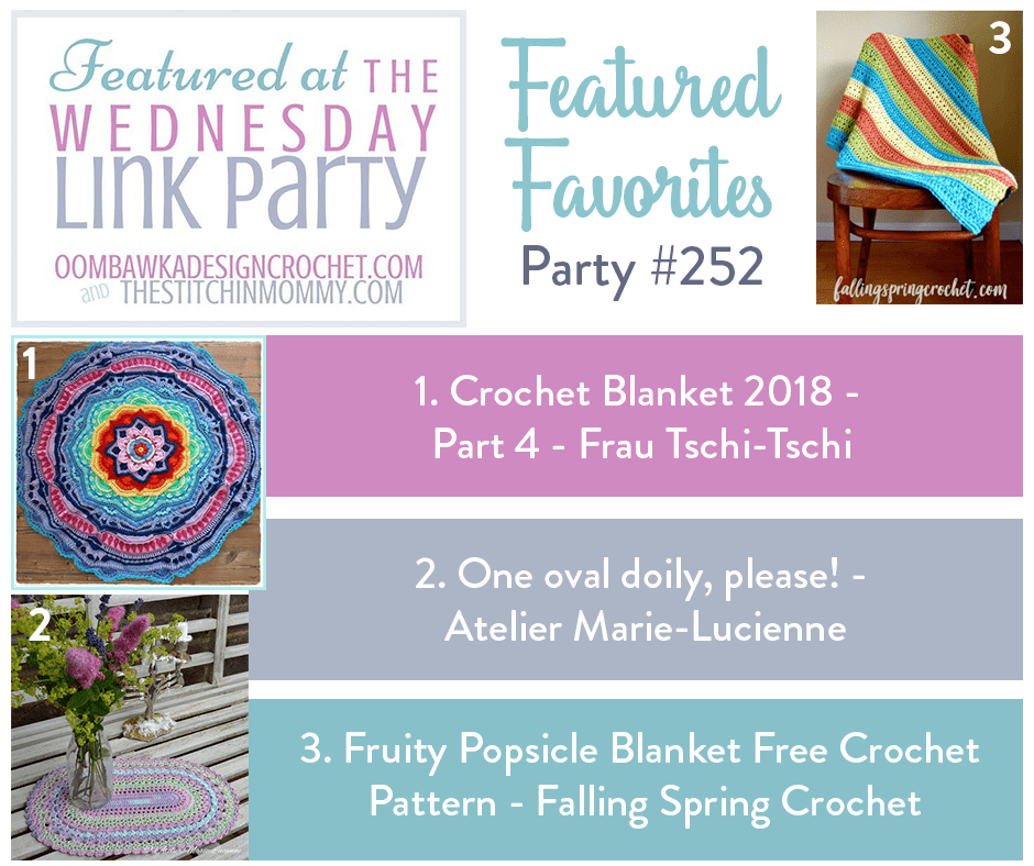 Wednesday Link Party 252 at Oombawka Design Crochet.