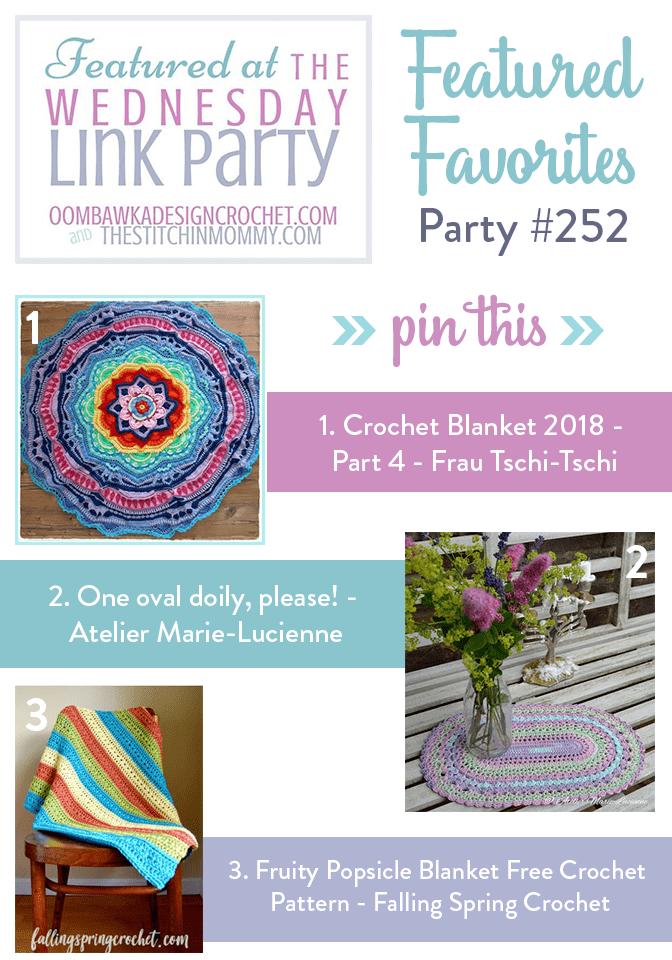 Wednesday Link Party 252 at Oombawka Design Crochet.