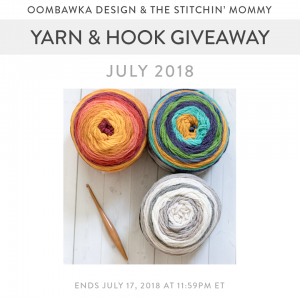 July Yarn and Hook Giveaway at Oombawka Design