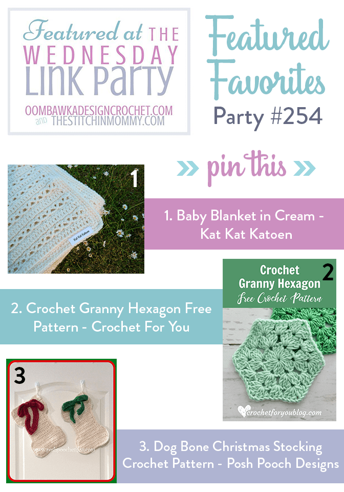 Wednesday Link Party 254 at Oombawka Design Crochet