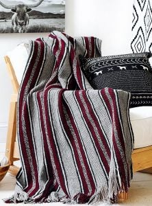 Bold Stripes. Modern Southwest Afghans. Leisure Arts. Book Review. Oombawka Design Crochet.