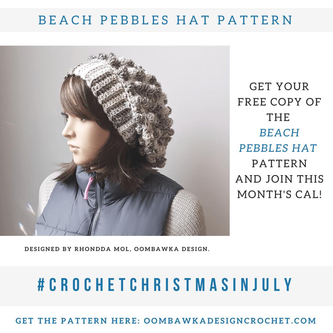 Beach Pebbles Hat Pattern. Oombawka Design Crochet instacrochet #CrochetChristmasinJuly