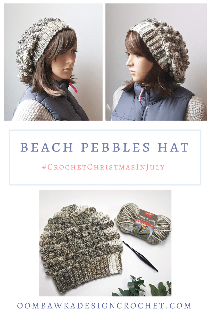 Beach Pebbles Hat Pattern. Oombawka Design Crochet