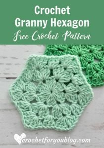 Crochet Granny Hexagon Pattern. Crochet for You Blog. Featured at Wednesday Link Party 245 at Oombawka Design Crochet