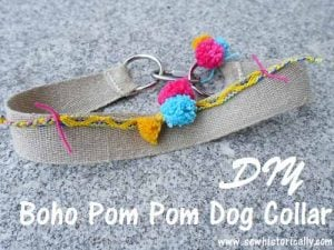 DIY Boho Pom Pom Dog Collar by Sew Historically