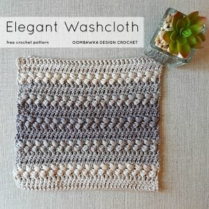 Elegant Washcloth Pattern. CAL Oombawka Design Crochet sq