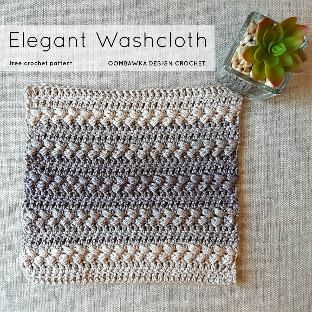 Elegant Washcloth Pattern Oombawka Design Crochet