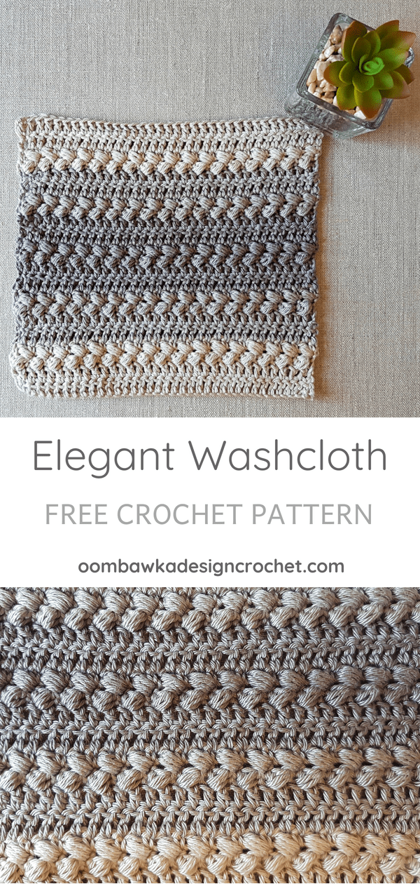 Elegant Washcloth Pattern. Crochet Along Oombawka Design Crochet