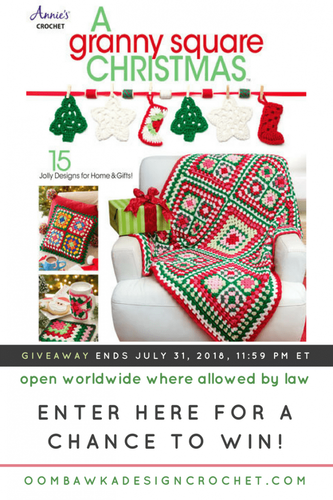 Granny Square Christmas eBook Giveaway from Annies Craft Store Ends July 31 2018 1159 pm ET at Oombawka Design Crochet
