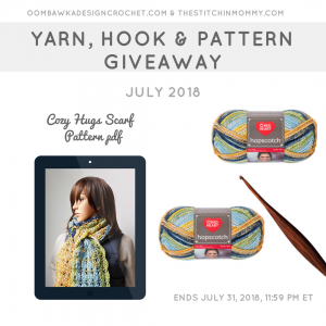 July Yarn, Crochet Hook and Pattern Giveaway Oombawka Design Crochet FB