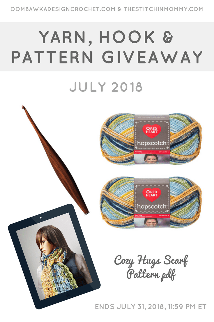 July Yarn, Crochet Hook and Pattern Giveaway Oombawka Design Crochet