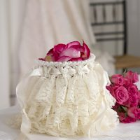 Ruffled Wedding Bag by Andee Graves