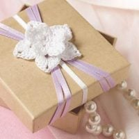 Flowered Wedding Favor Box by Andee Graves at Red Heart