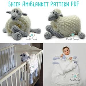 Sheep Amiblanket Pattern from Aneta at Crochet Arcade