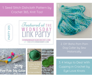 Wednesday Link Party 255 Featured Favorites at Oombawka Design Crochet and The Stitchin Mommy