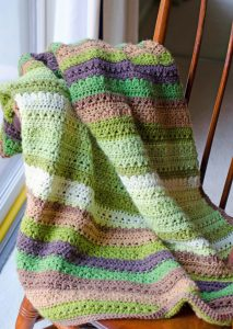 Featured at Wednesday Link Party 253: Fields and Furrows Crochet Afghan Pattern by Crochet 365 Knit Too