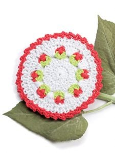Rosebud Fabulous Floral Dishcloths. 12 Pretty Crochet Patterns from Annie's Craft Store. Book Review by Oombawka Design Crochet.