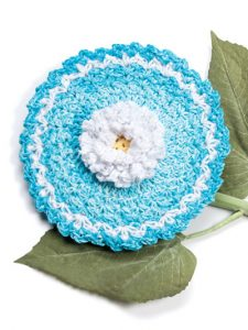 Daisy Fabulous Floral Dishcloths. 12 Pretty Crochet Patterns from Annie's Craft Store. Book Review by Oombawka Design Crochet.