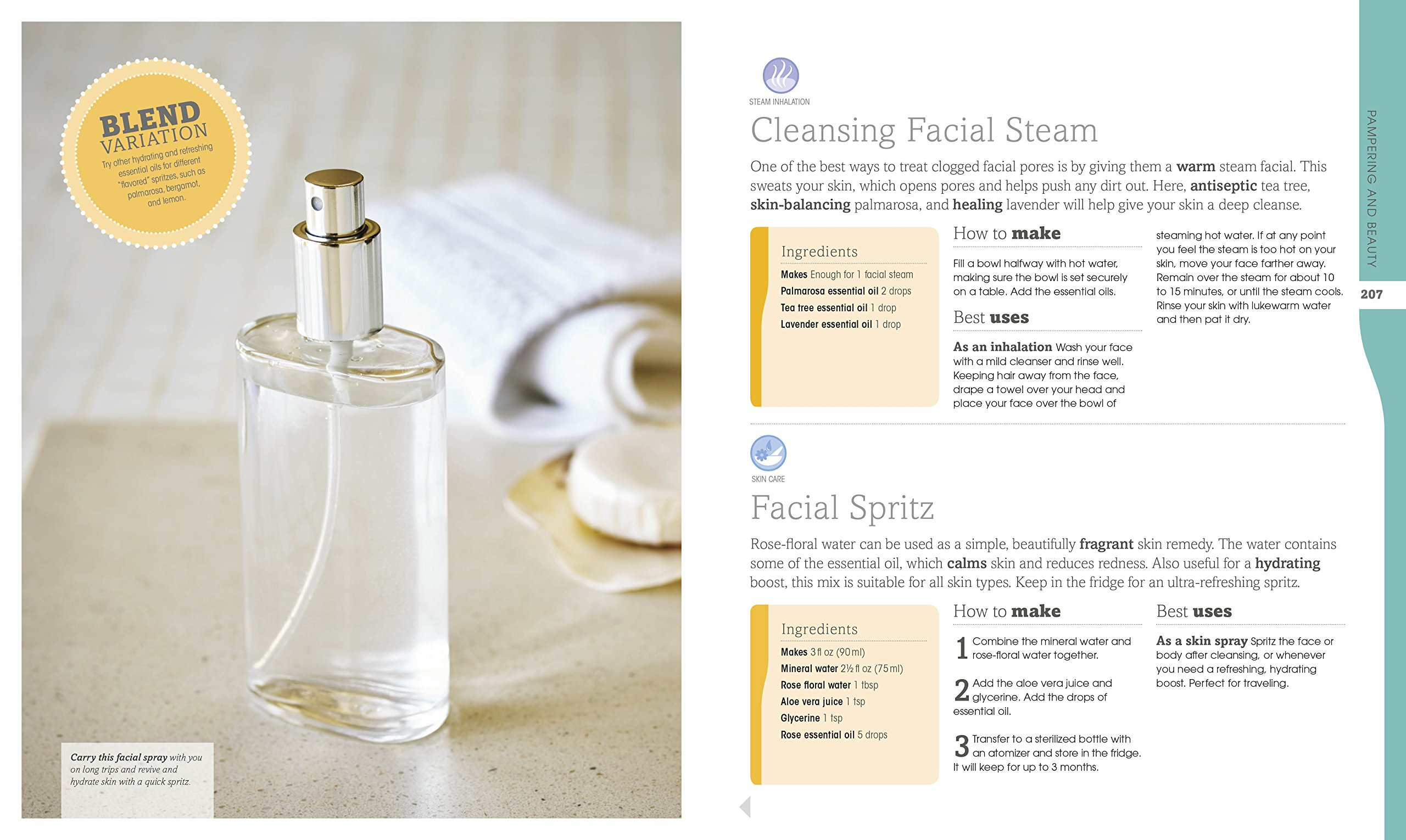 Cleansing Facial Essential Oils. DK Canada. Image Credit Amazon. Book Review Oombawka Design Crochet