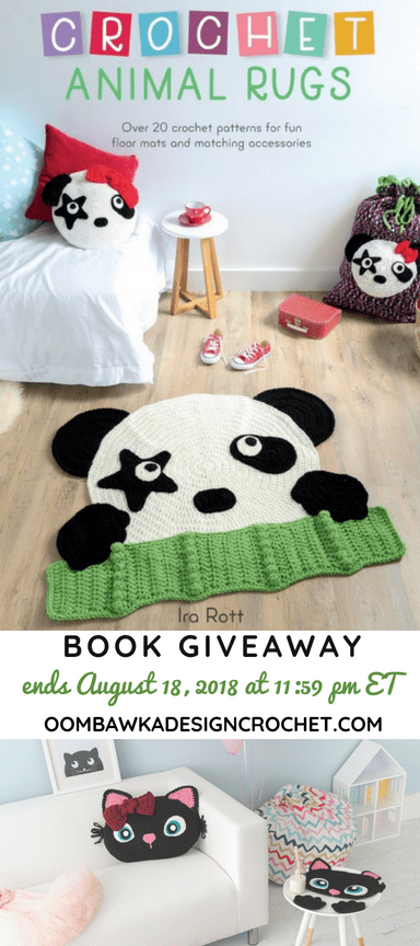 Crochet Animal Rugs Giveaway ends August 18 2018 1159 pm ET Oombawka Design Crochet