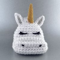 Unicorn Mobile Cell Phone Holder from Crochet Arcade