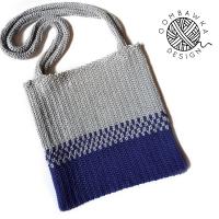 Crochetyay July. Easy Split Tote Crochet Pattern. Oombawka Design Crochet. Red Heart Yarns sq