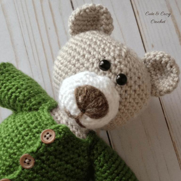 Freddy the Teddy Free Crochet Pattern by Mary's Cute and Cozy Crochet