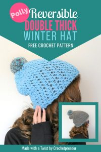 Wednesday Link Party 259 Double Thick Beanie Free Crochet Pattern - Made With A Twist