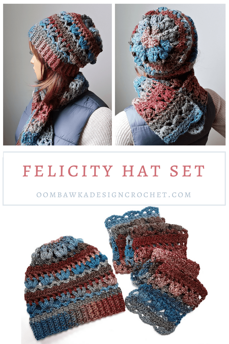 Felicity Hat and Scarf Pattern Set. Oombawka Design Crochet