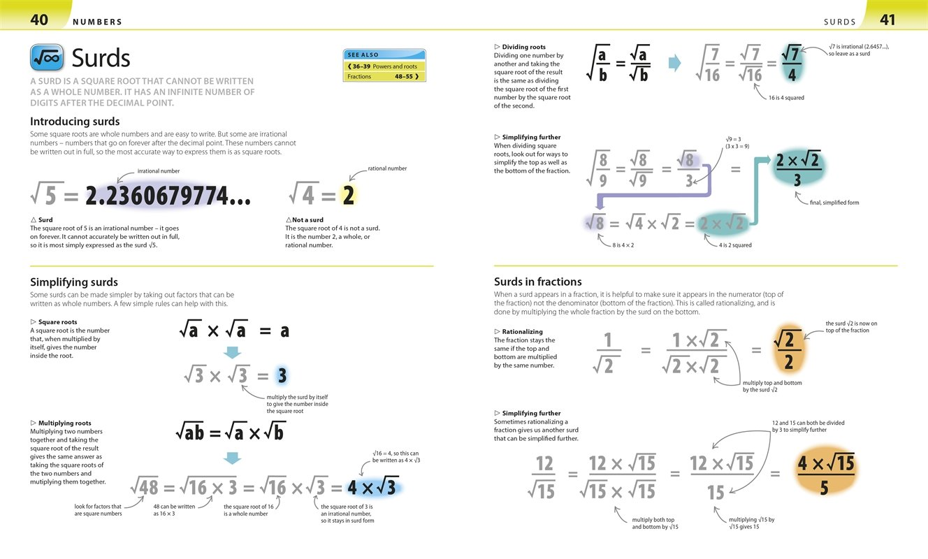 Surds Help Your Kids with Math. DK Canada. Image Credit Amazon. Book Review Oombawka Design