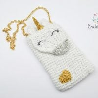 Unicorn Cell Phone Purse Pattern by Crochet Arcade