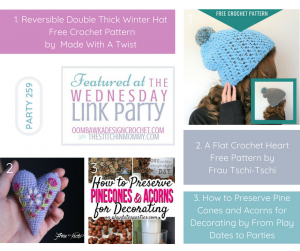 Wednesday Link Party Features for Party 259 Oombawka Design Crochet and The Stitchin Mommy