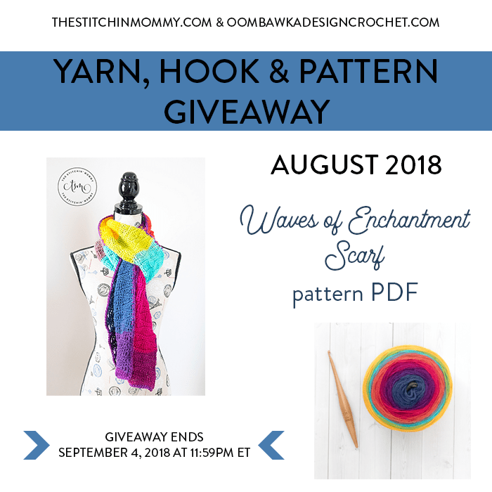 Yarn Hook and Pattern Giveaway August 2018