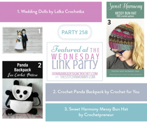 Wednesday Link Party 258 with Oombawka Design Crochet and The Stitchin Mommy. Featured Favorites