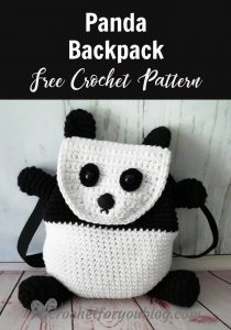 Crochet Panda Backpack by Crochet for You