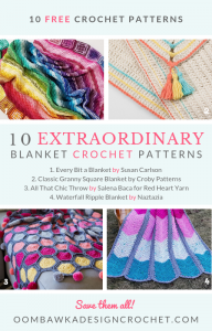 10 Extraordinary Blanket Crochet Patterns. Free Pattern Roundup at Oombawka Design Crochet.