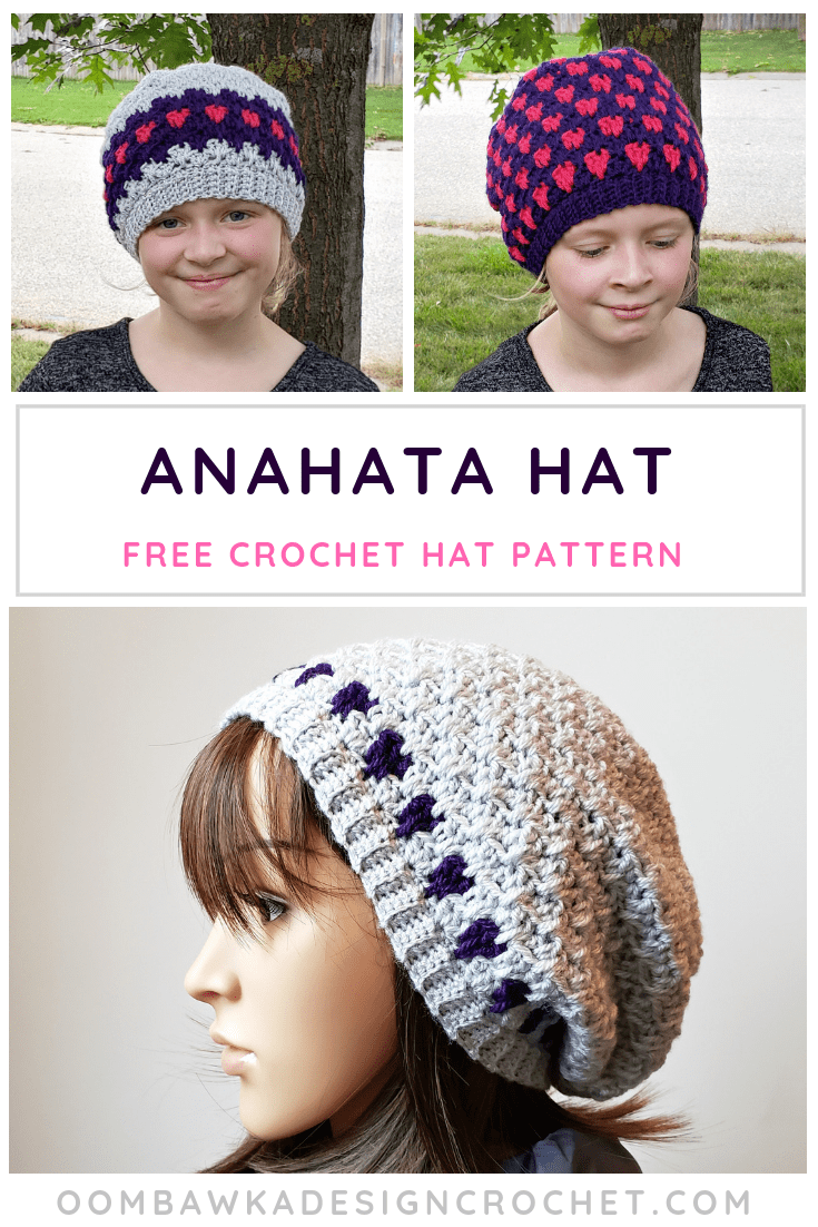 Anahata Hat Pattern in 11 Sizes. Free Pattern from Oombawka Design Crochet #holidaystashdowncal2018 #holidaystashdowncal #lovecrochet #calcentralcrochet #holidaystashdown @lovecrochetcom
