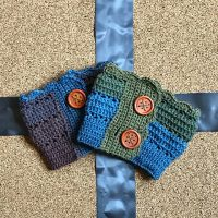Autumn Sky Boot Cuffs by Dianne Hunt