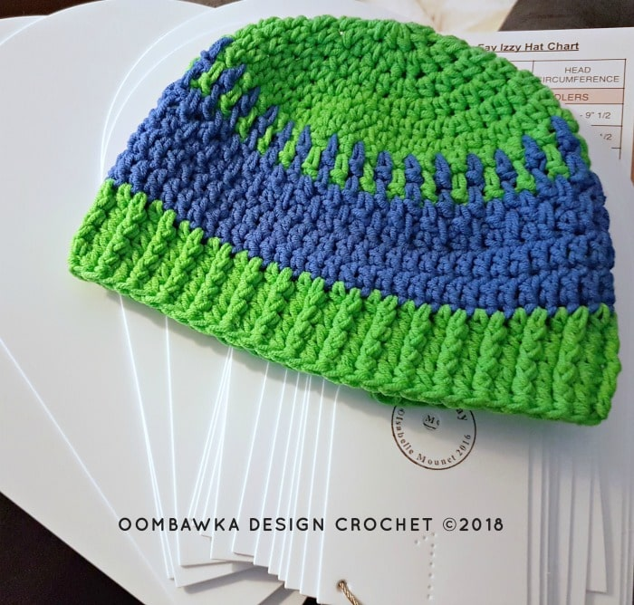 Babay Fay Izzy Hat Tool. Hat Test 2a. Review. Oombawka Design Crochet 2