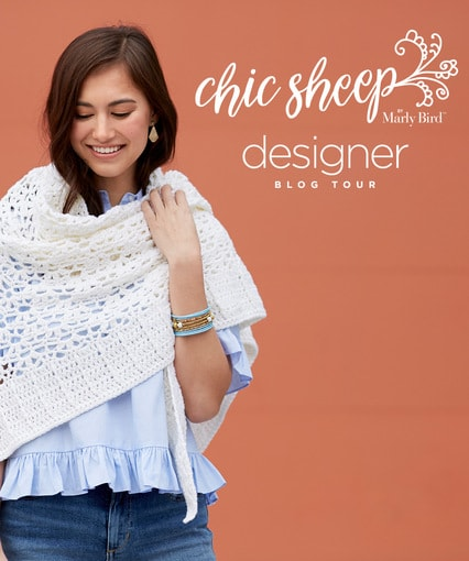 Chic Sheep by Marly Bird Designer Blog Tour 2018 Get Free Patterns Designed in Beautiful Yarn
